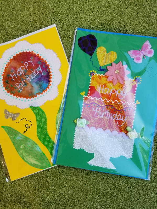 Katrina gorman designs fabric greeting cards sing it with a bright happy birthday card these are too cute for that special birthday sprinkled with love great to have these handy all year round m4hsunfo